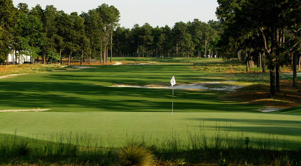 The 16th hole at Pinehurst No. 2, site of the 2014 U.S. Open.