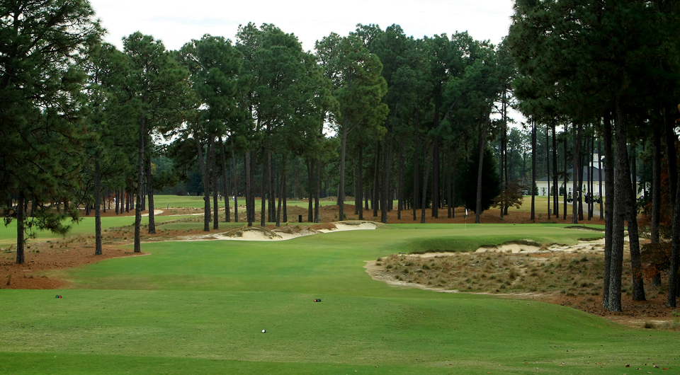 The 17th hole at Pinehurst No. 2, site of the 2014 U.S. Open.