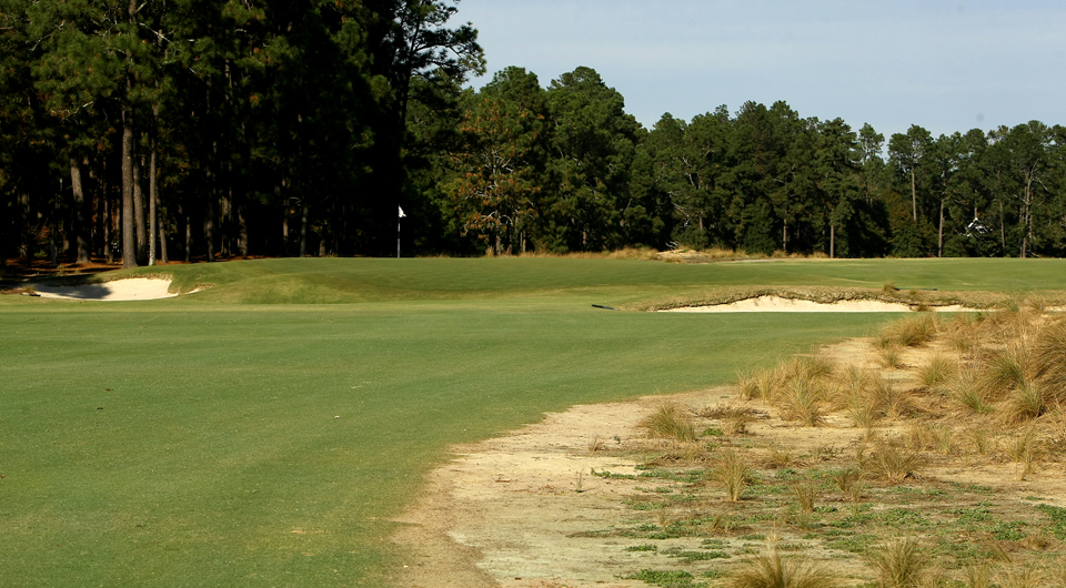 The first hole at Pinehurst No. 2, site of the 2014 U.S. Open.