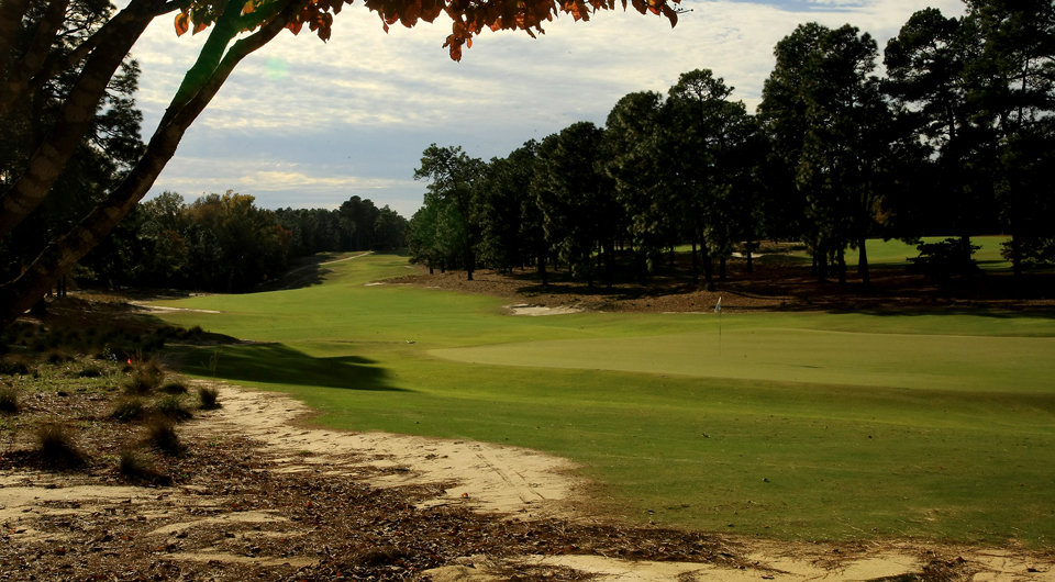 The fourth hole at Pinehurst No. 2, site of the 2014 U.S. Open.