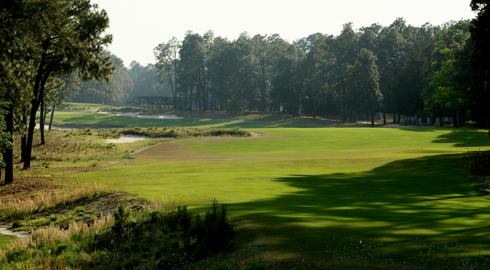 The fifth hole at Pinehurst No. 2, site of the 2014 U.S. Open.