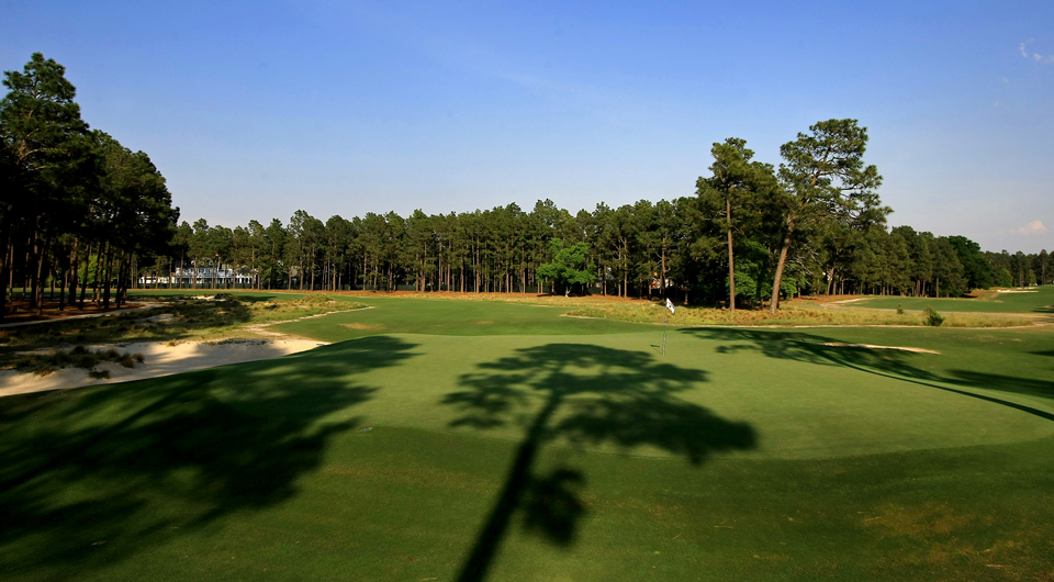 The seventh hole at Pinehurst No. 2, site of the 2014 U.S. Open.