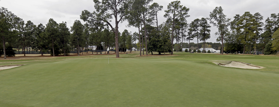 The 11th hole at Pinehurst No. 2, site of the 2014 U.S. Open.