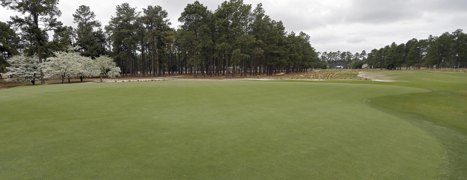 The 12th hole at Pinehurst No. 2, site of the 2014 U.S. Open.