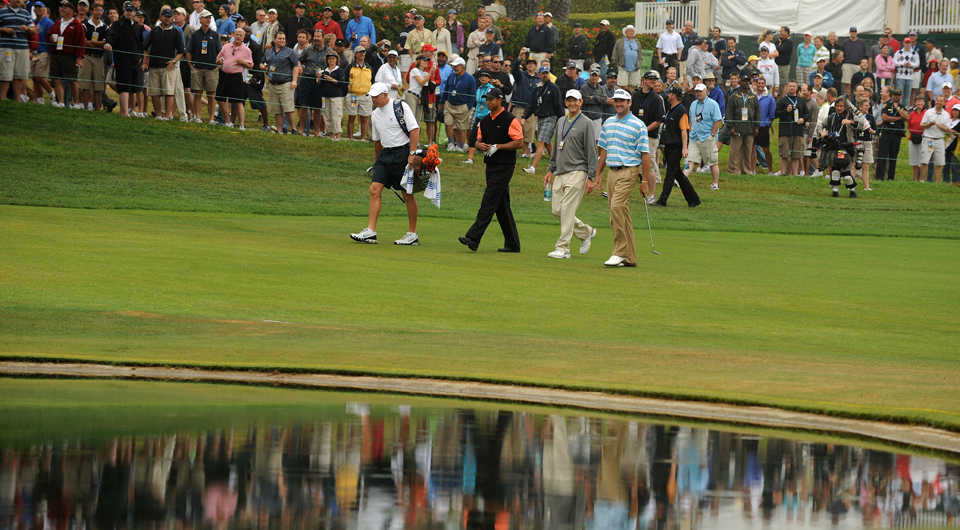 Tiger Woods and Bubba Watson played a practice round at the 2008 U.S. Open at Torrey Pines.