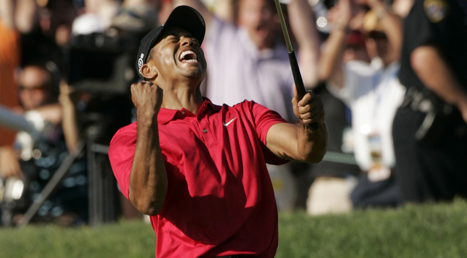 Tiger Woods won his third U.S. Open title in 2008 at Torrey Pines.
