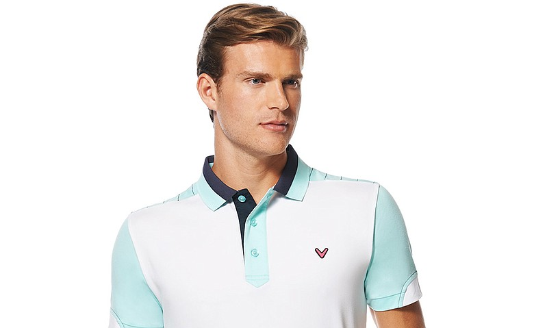 The blocked polo is part of the new Callaway collection called Callaway X.