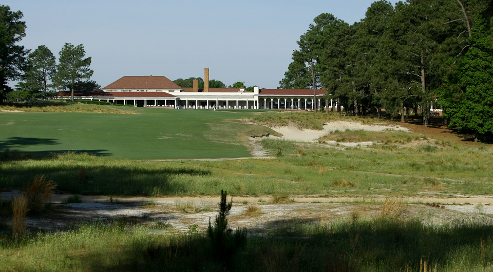 The 18th hole at Pinehurst No. 2, site of the 2014 U.S. Open.