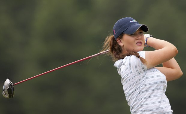GB&I's Annabel Dimmock during Saturday morning's four-ball match against the U.S. at the 2014 Curtis Cup.