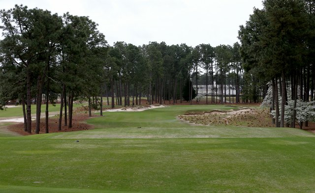 A general view of the 17th hole at Pinehurst No. 2 in Pinehurst, N.C.