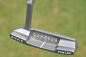 Rickie Fowler plays this Scotty Cameron for Titleist prototype putter.