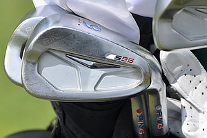 Billy Horschel has a set of Ping S55 irons in his bag that have special paint fill to show his love for the University of Florida.