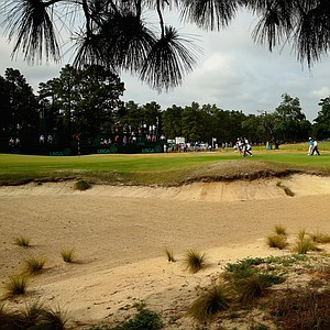 Bubba Watson during Monday's practice round for the 2014 U.S. Open at Pinehurst No. 2.