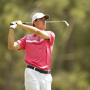 Cameron Wilson, former Stanford Cardinal and the 2014 NCAA individual medalist, during Monday's practice round for the 2014 U.S. Open at Pinehurst No. 2.