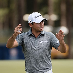 Jason Day during Monday's practice round for the 2014 U.S. Open at Pinehurst No. 2.
