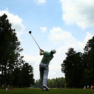 Jordan Spieth during Monday's practice round for the 2014 U.S. Open at Pinehurst No. 2.