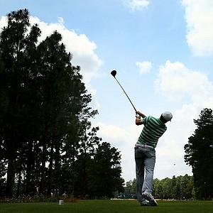 Jordan Spieth during Monday's practice round for the 2014 U.S. Open at Pinehurst No. 2.
