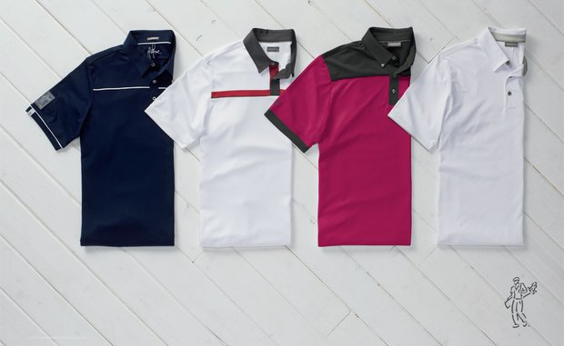 Justin Rose's scripted Ashworth Golf polos for the 2014 U.S. Open at Pinehurst No. 2.
