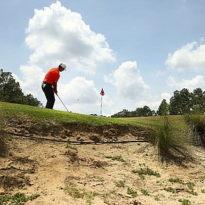 Luke Guthrie during Monday's practice round for the 2014 U.S. Open at Pinehurst No. 2.