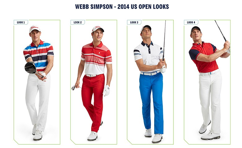 Webb Simpson's Izod apparel for the 2014 U.S. Open.