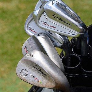 Y.E. Yang has TaylorMade Tour Preferred MC irons along with a colorfully-stamped Titleist SM4 lob wedge for the 2014 U.S. Open at Pinehurst.