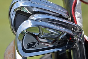 Graeme McDowell had several Srixon Z-525 prototype irons in his bag Tuesday while practicing for the 2014 U.S. Open at Pinehurst.