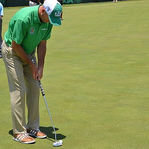 Furyk used a counterbalanced Odyssey Versa 2-Ball putter on Tuesday before the 2014 U.S. Open at Pinehurst.