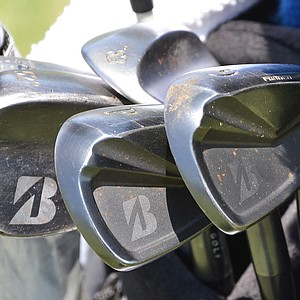 Matt Kuchar uses a dark, raw-finished set of Bridgestone J40 Forged Cavity Back irons for the 2014 U.S. Open at Pinehurst.