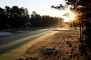 Hole No. 3 with the view of the Donald Ross home at Pinehurst.