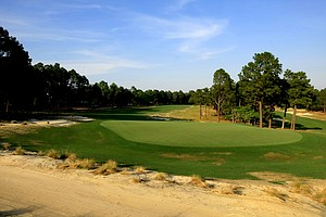 View of the green at Hole No. 5 on Course No. 2 at Pinehurst.