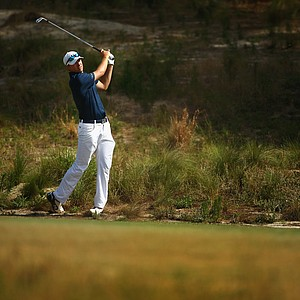 Jordan Spieth during Tuesday's practice round at the 2014 U.S. Open at Pinehurst No. 2.