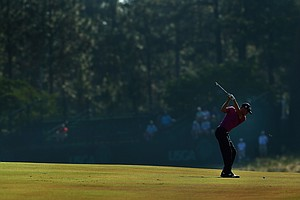 Justin Thomas during Tuesday's practice round for the 2014 U.S. Open at Pinehurst No. 2.