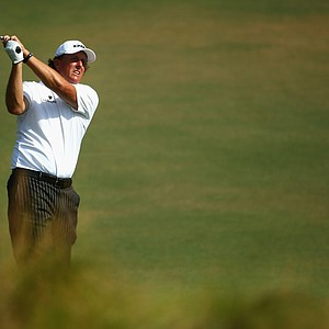 Phil Mickelson during Tuesday's practice round at the 2014 U.S. Open at Pinehurst No. 2.