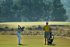 Rickie Fowler during Tuesday's practice round at the 2014 U.S. Open at Pinehurst No. 2.