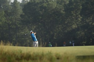 Smylie Kaufman during Tuesday's practice round at the 2014 U.S. Open at Pinehurst No. 2.