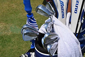 Luke Donald plays Mizuno's MP-64 irons, which he brought to Pinehurst for the 2014 U.S. Open, but off the tee he often reaches for his MP-H4 utility iron.