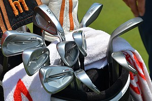 Hunter Mahan's Ping S55 irons shined brightly under the North Carolina sun in Pinehurst on Wednesday before the start of the 2014 U.S. Open.