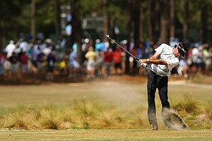 Bubba Watson during Wednesday's practice round for the 2014 U.S. Open at Pinehurst No. 2.