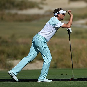 Ian Poulter during Wednesday's practice round for the 2014 U.S. Open at Pinehurst No. 2.
