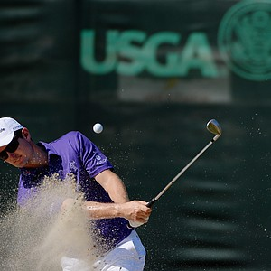 Justin Rose during Wednesday's practice round for the 2014 U.S. Open at Pinehurst No. 2.