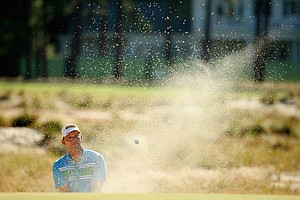Marcel Siem during Wednesday's practice round for the 2014 U.S. Open at Pinehurst No. 2.
