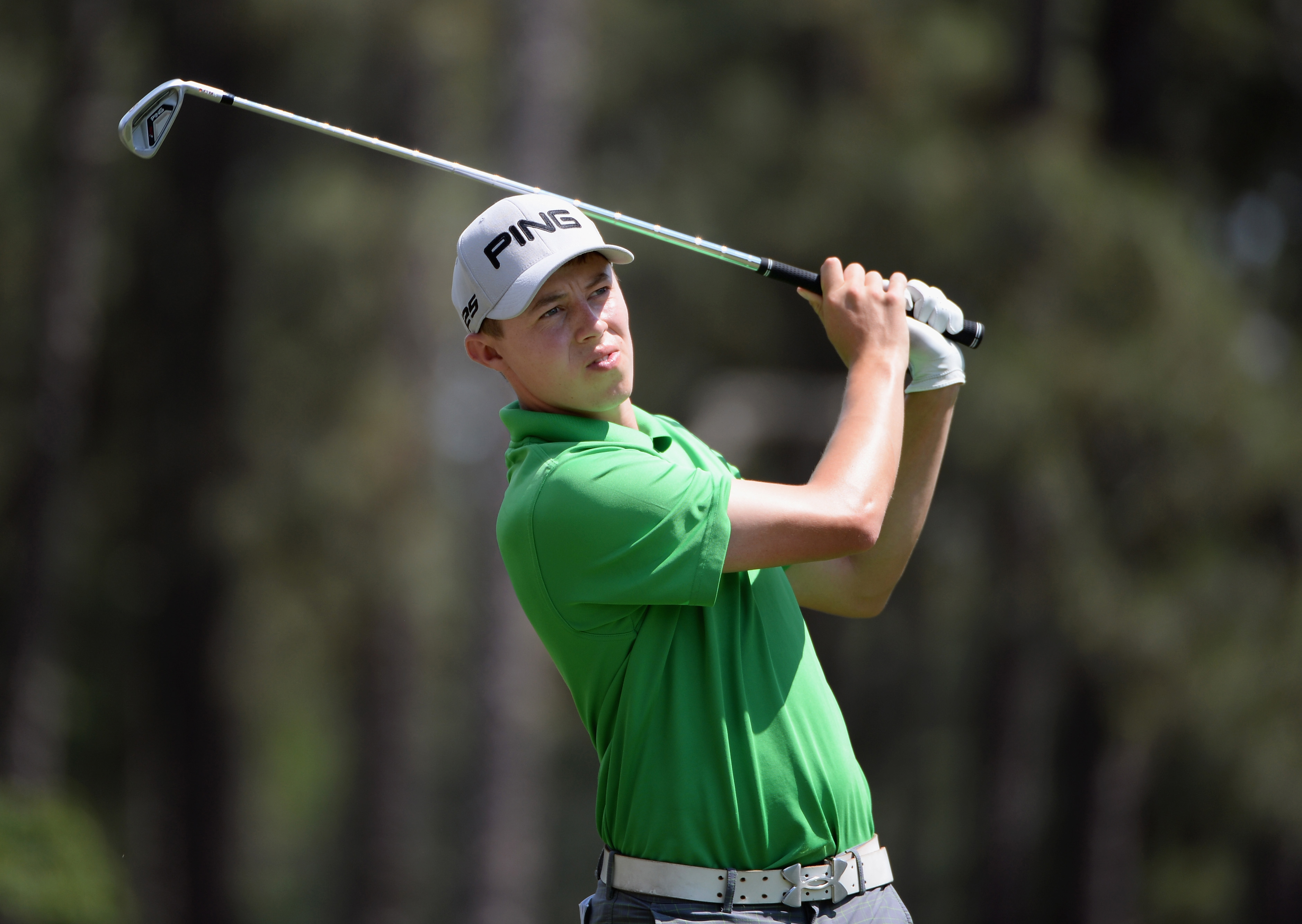Matthew Fitzpatrick during Wednesday's practice round for the 2014 U.S. Open at Pinehurst No. 2.