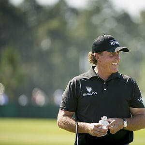 Phil Mickelson during Wednesday's practice round for the 2014 U.S. Open at Pinehurst No. 2.