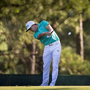 Rickie Fowler during Wednesday's practice round for the 2014 U.S. Open at Pinehurst No. 2.