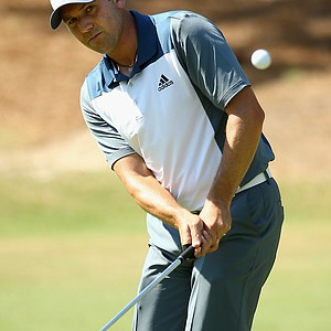 Sergio Garcia during Wednesday's practice round at the 2014 U.S. Open at Pinehurst No. 2.