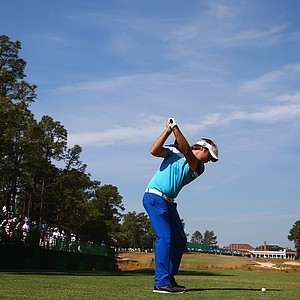 Victor Dubuisson during Wednesday's practice round at the 2014 U.S. Open at Pinehurst No. 2.