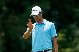 Adam Scott during Thursday's first round of the 2014 U.S. Open at Pinehurst No. 2.