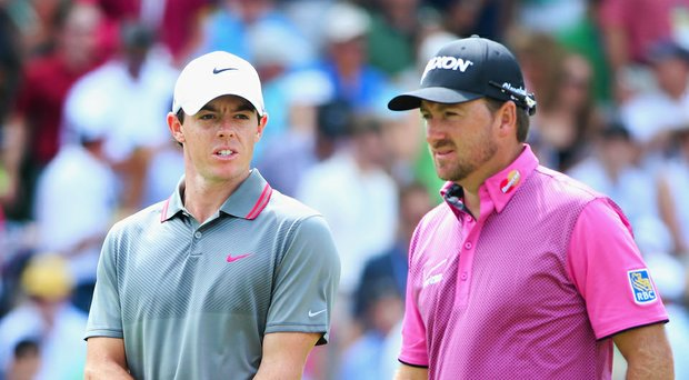 Rory McIlroy and Graeme McDowell during the 2014 U.S. Open at Pinehurst.