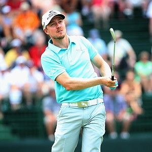Jonas Blixt during Thursday's first round of the 2014 U.S. Open at Pinehurst No. 2.