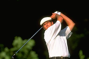 Payne Stewart during the second round of the 1999 U.S. Open Championship at Pinehurst No. 2.